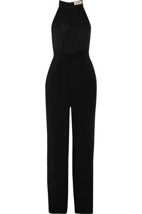 L'AGENCE Regina silk chiffon-paneled crepe jumpsuit