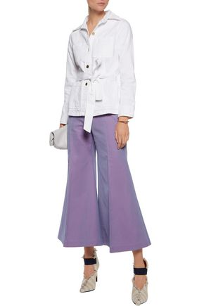 ACNE STUDIOS Olexa cotton-twill bootcut pants