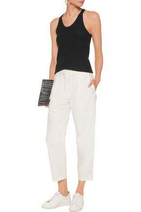 ACNE STUDIOS Onno Pop Suit cropped cotton-poplin tapered pants