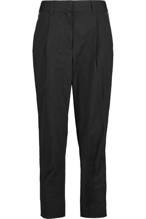 3.1 PHILLIP LIM Pleated cotton tapered pants