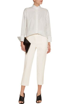 DION LEE Cropped crepe straight-leg pants
