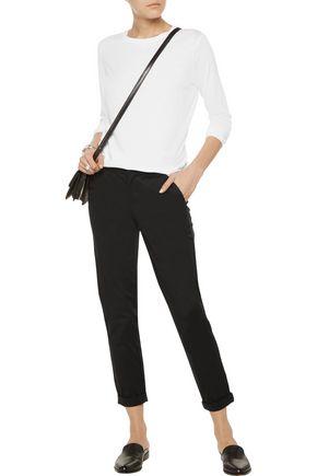 VINCE. Boyfriend cotton-blend poplin pants
