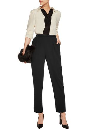 ALICE + OLIVIA Jessie crepe tapered pants