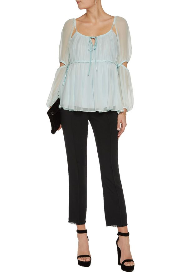 Nash cropped crepe bootcut pants   CINQ À SEPT   Sale up to 70% off   THE  OUTNET