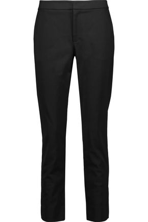 RAOUL Ember lace-up stretch cotton-blend straight-leg pants