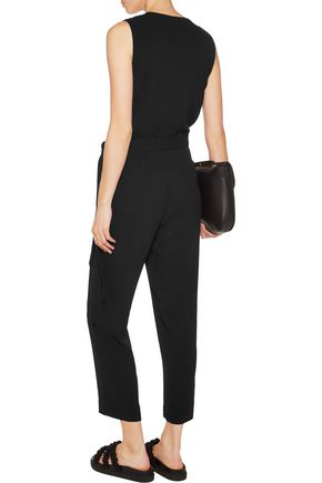 THEORY Alvmie wrap-effect crepe jumpsuit