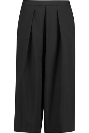 MICHAEL MICHAEL KORS Pleated wool-blend culottes