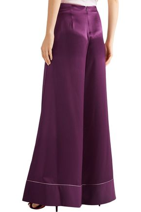 ROKSANDA Oldridge silk-satin wide-leg pants