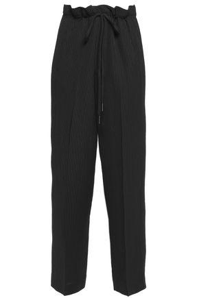 HELMUT LANG Striped twill straight-leg pants