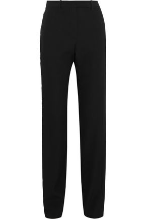GIVENCHY Embellished wool-twill straight-leg pants