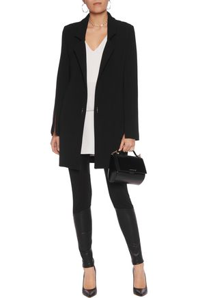 GIVENCHY Paneled leather and jersey leggings