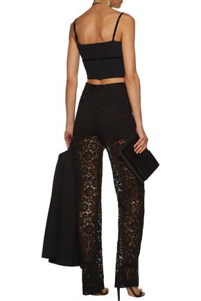 GIVENCHY Cotton-blend corded lace straight-leg pants