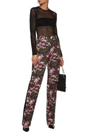 GIVENCHY Floral-print cotton straight-leg pants