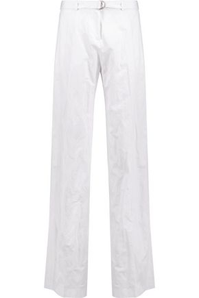 MICHAEL KORS COLLECTION Crinkled cotton wide-leg pants
