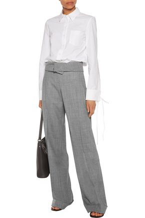 MICHAEL KORS COLLECTION Wool-blend wide-leg pants