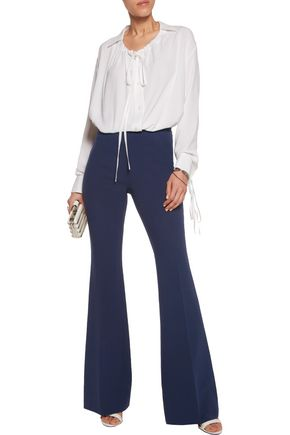 MICHAEL KORS COLLECTION Wool-crepe bootcut pants
