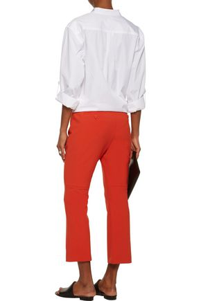 THEORY Stretch-cady flared pants