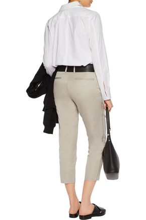 RAG & BONE Ashbury cropped cotton and linen-blend pants