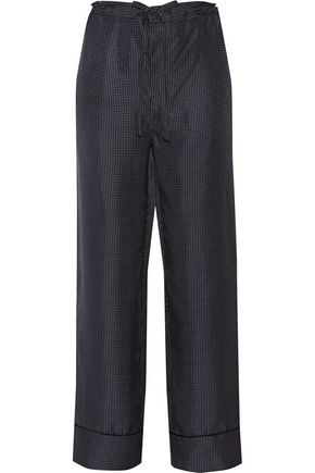 RAG & BONE Gabrielle polka-dot silk-twill wide-leg pants