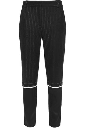 DKNY Striped wool-blend tapered pants