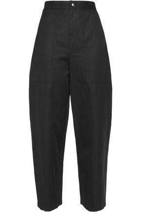 HELMUT LANG Cotton and linen-blend straight-leg pants