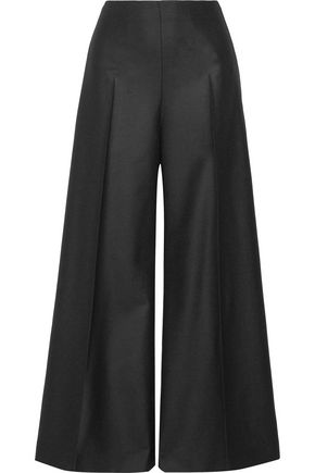 JOSEPH Brad pleated wool-blend wide-leg pants