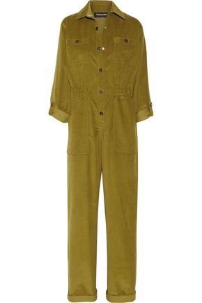 VANESSA SEWARD Cotton-blend corduroy jumpsuit