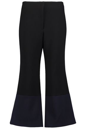 MERCHANT ARCHIVE Fluted wool-crepe wide-leg pants