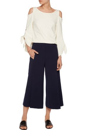 IRIS & INK Avery crepe de chine wide-leg pants