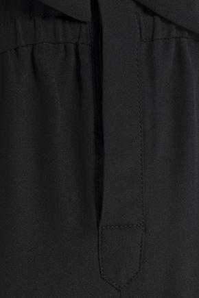 VANESSA SEWARD Boulogne pussy-bow silk crepe de chine jumpsuit