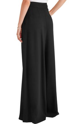 VANESSA SEWARD Charlotte pleated wool-blend crepe wide-leg pants