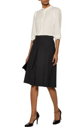 VANESSA SEWARD Billy pleated wool-blend culottes