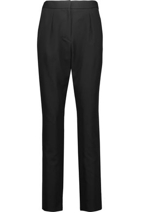 VANESSA SEWARD Pleated wool-twill straight-leg pants