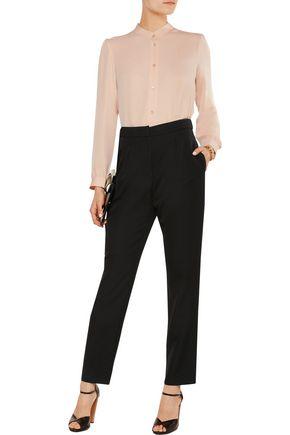 VANESSA SEWARD Pleated wool-twill straight-leg pants