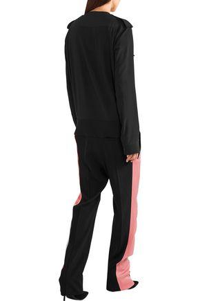 HAIDER ACKERMANN Crepe de chine-paneled silk jumpsuit