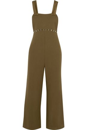 3.1 PHILLIP LIM Embellished silk satin-trimmed wool-blend twill jumpsuit