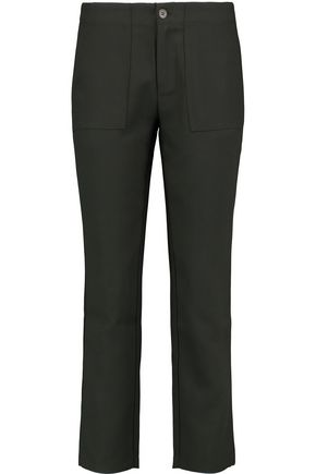 IRIS AND INK Quentin crepe slim-leg pants