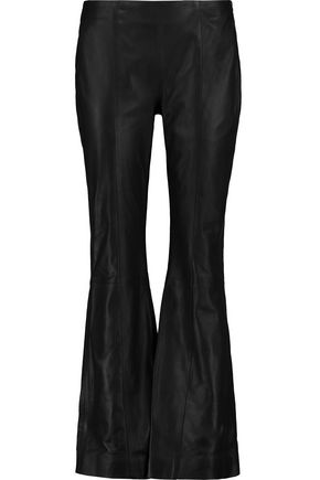 IRIS AND INK Leslie leather flared pants