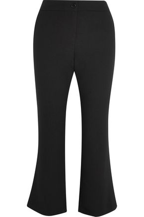 IRIS & INK Marianne cropped crepe flared pants