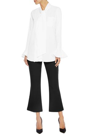 IRIS AND INK Cropped crepe flared pants
