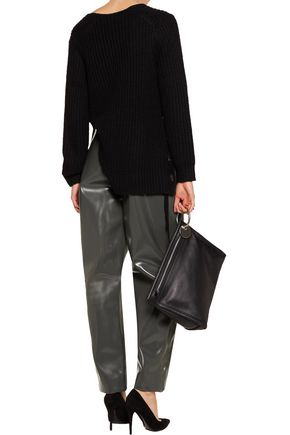 ACNE STUDIOS Selah glossed-faux leather wide-leg pants
