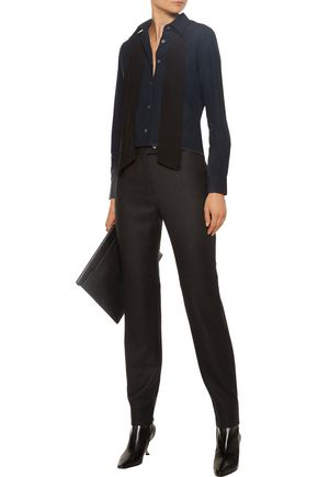 ACNE STUDIOS Svanborg embellished wool-felt straight-leg pants