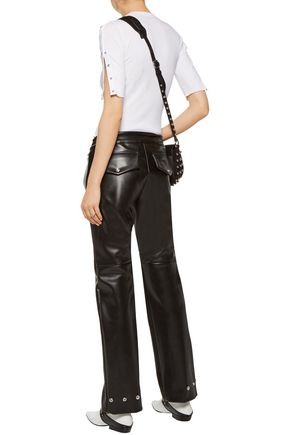 ACNE STUDIOS Svanborg embellished faux leather straight-leg pants