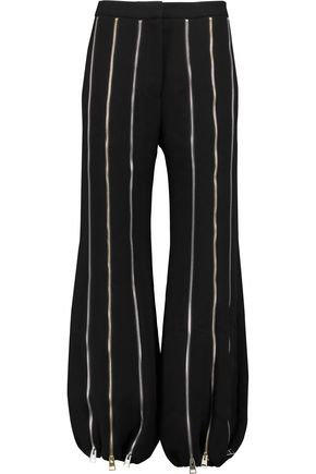 J.W.ANDERSON Zip-embellished crepe pants