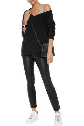 T by ALEXANDER WANG Leather skinny pants
