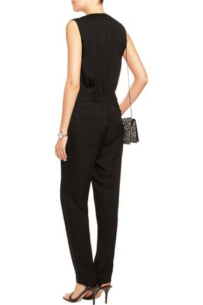 THEORY Sibby silk crepe de chine jumpsuit