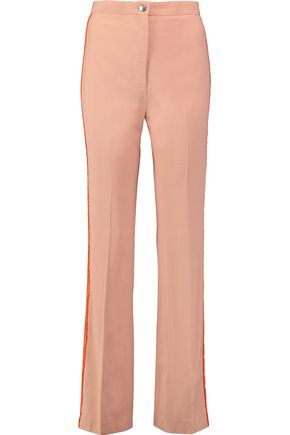 ACNE STUDIOS Myla wool-trimmed crepe wide-leg pants