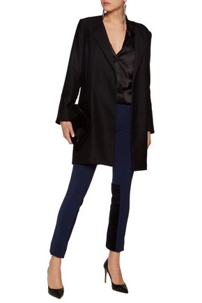 SAFIYAA Lace-paneled ponte slim-leg pants