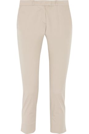 JOSEPH Bing Court ankle slit cotton-blend chinos