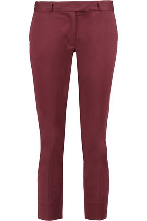 JOSEPH Big Court cotton-blend slim-leg pants